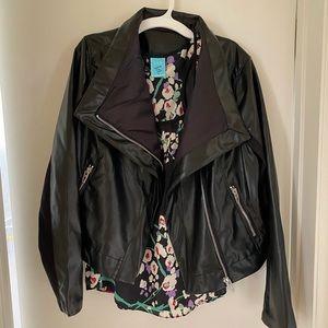 Blank NYC black faux leather biker moto jacket